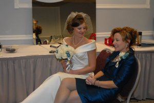 Mom and daughter, wedding