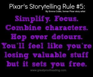 Pixar Storytelling Rule. Simplify.