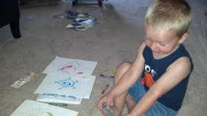 Max coloring the Tippy drawings